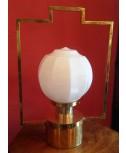 Lampada da tavolo in ottone a cestello