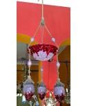 Lampadario Liberty in pasta di vetro