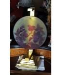 Lampada in ottone con vetro a firma Gallè