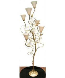 Lampada a stelo con tulipes di Murano