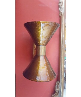 Applique doppio cono in vetro di Murano